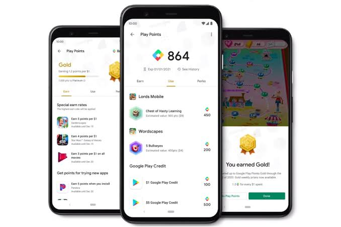 Google's Play Points program rewards individuals for downloading applications