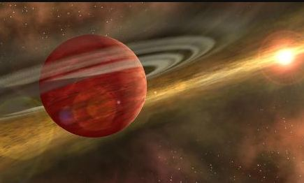 Infant giant planet found 330 light-years apart